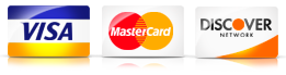 We take visa, Mastercard and Discovery credit cards