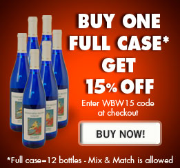 Buy one full case* of any wine and get 15% off. Enter WBW15 code at checkout. *Full case is 12 bottles. Mix & Match is allowed