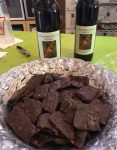 Whispering Bluffs Winery Rose Breasted Grosbeak Wine with Chocolate Covered Bacon