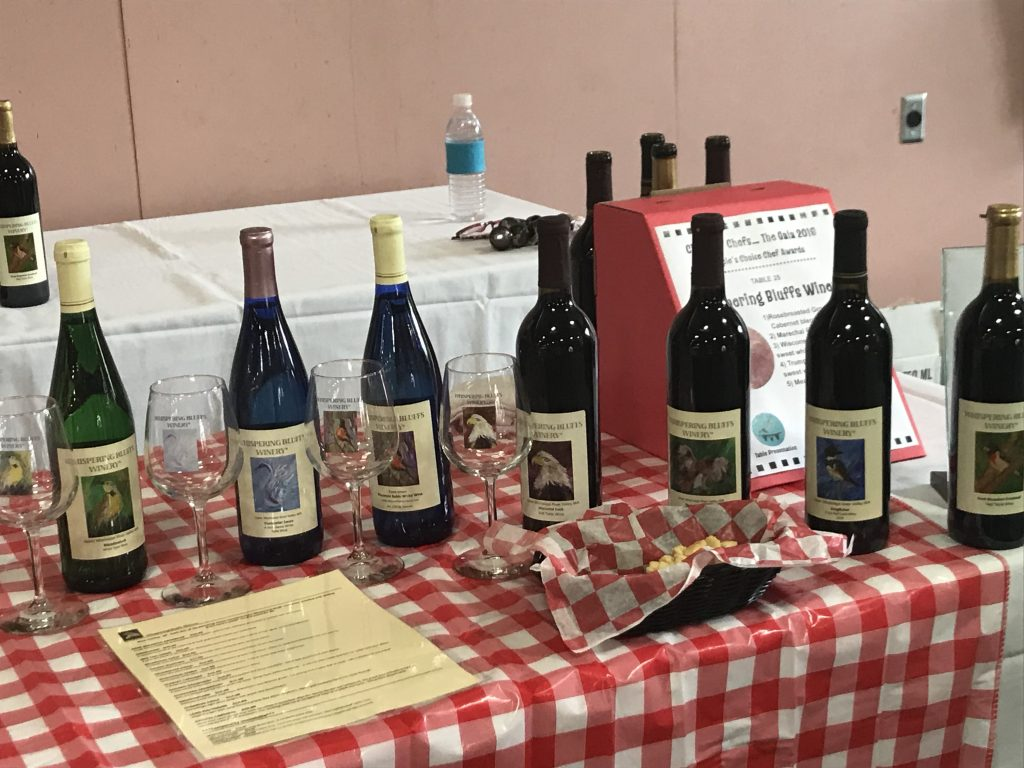 Whispering Bluffs wines at Circus of Chefs Gala