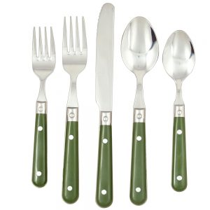 Flatware 20 pc Set - Moss Green