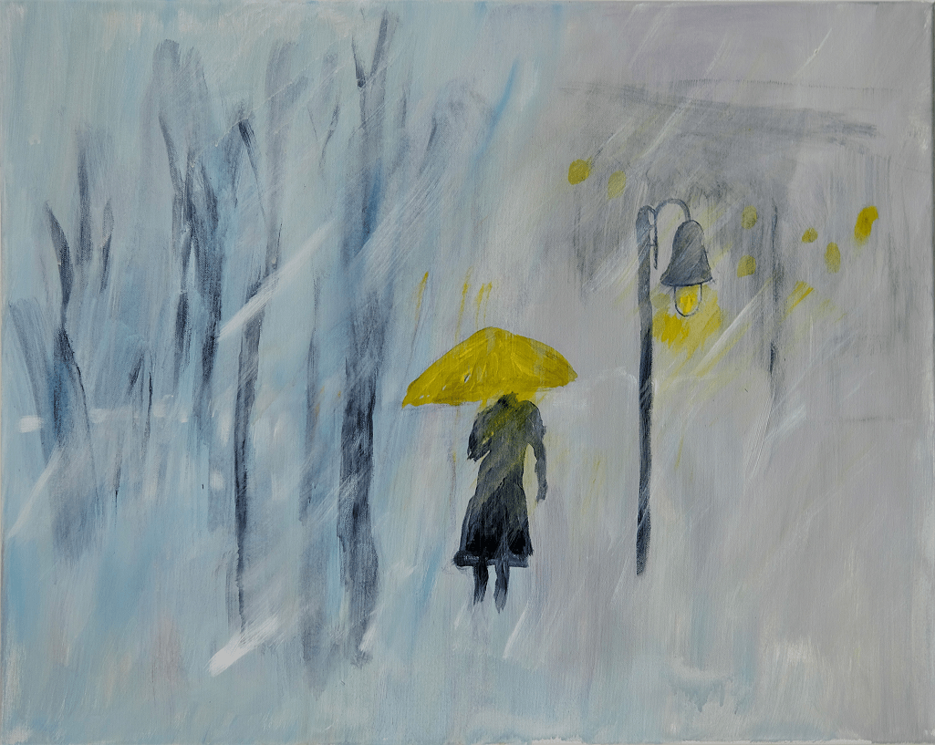 """Walking through lifes storms – protected by the """"YELLOW UMBRELLA"""""""