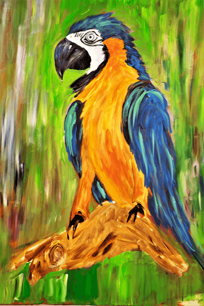Yellow Parrot - 30x40 painting